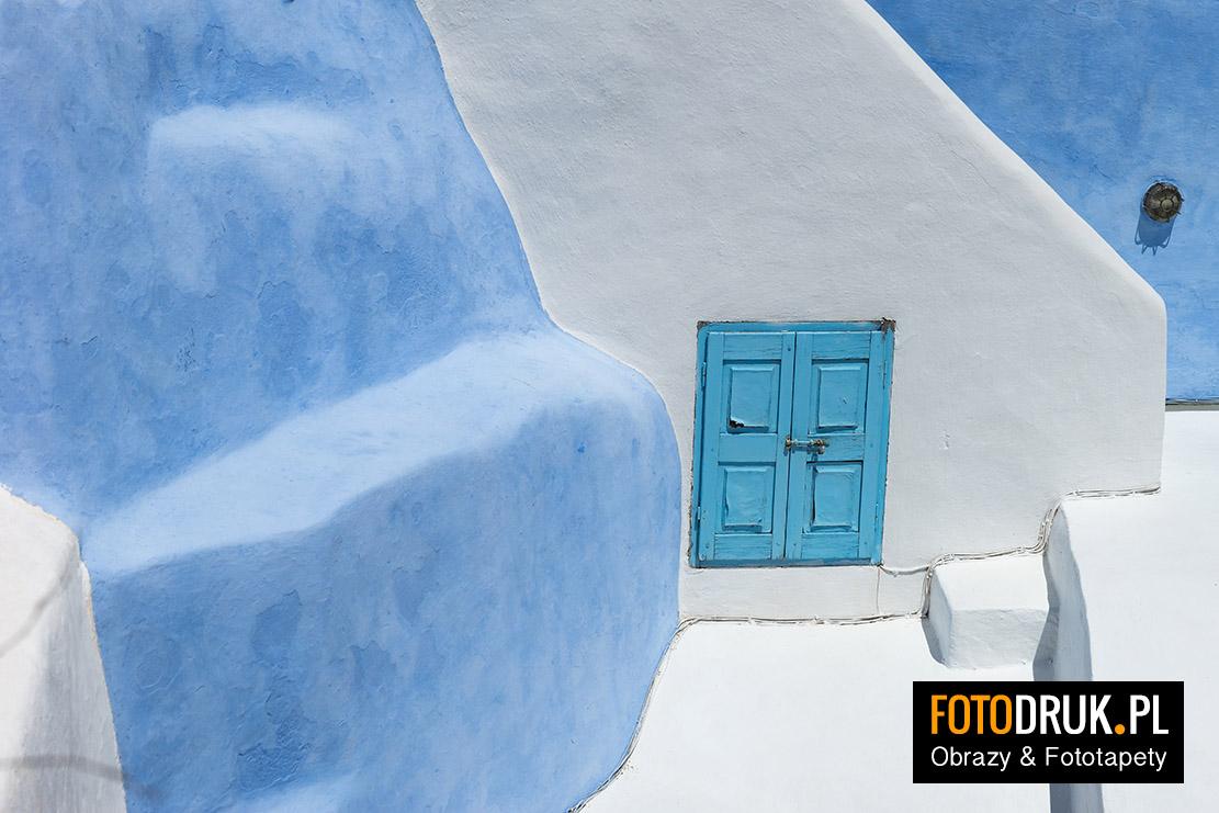 Santorini - Abstrakcja, Obrazy, Fototapety