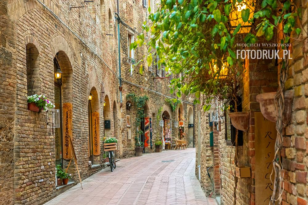 Uliczka w Toskanii - Fototapety i obrazy na płótnie