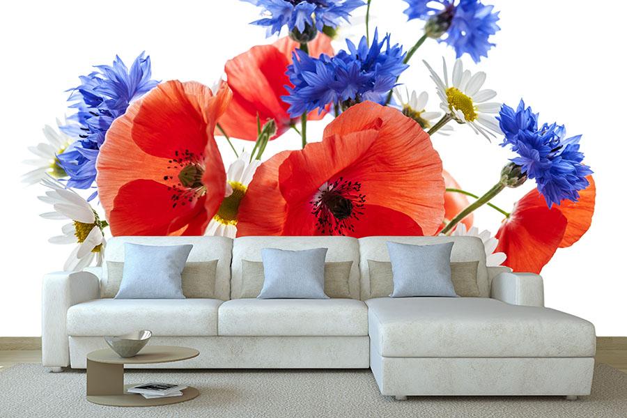 Polne kwiaty fototapeta to doskonały pomysł na prezent