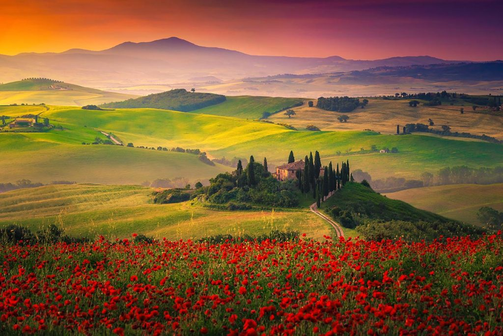 Pejzaż Toskania
