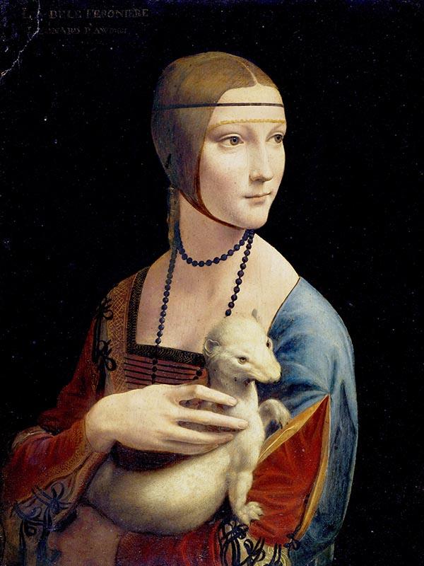 Dama z gronostajem Leonarda da Vinci - Reprodukcja obrazu na płótnie