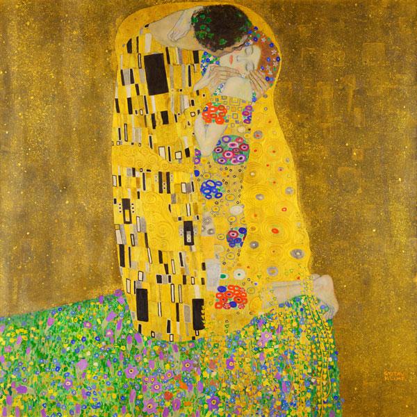 Pocałunek Gustav Klimt - Reprodukcja obrazu wydrukowana na płótnie