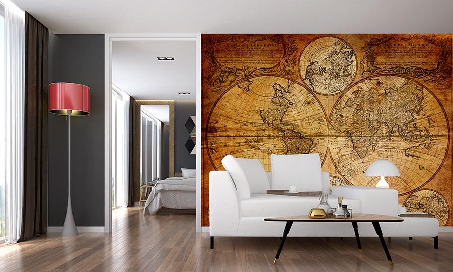 Fototapety do salonu - stara mapa