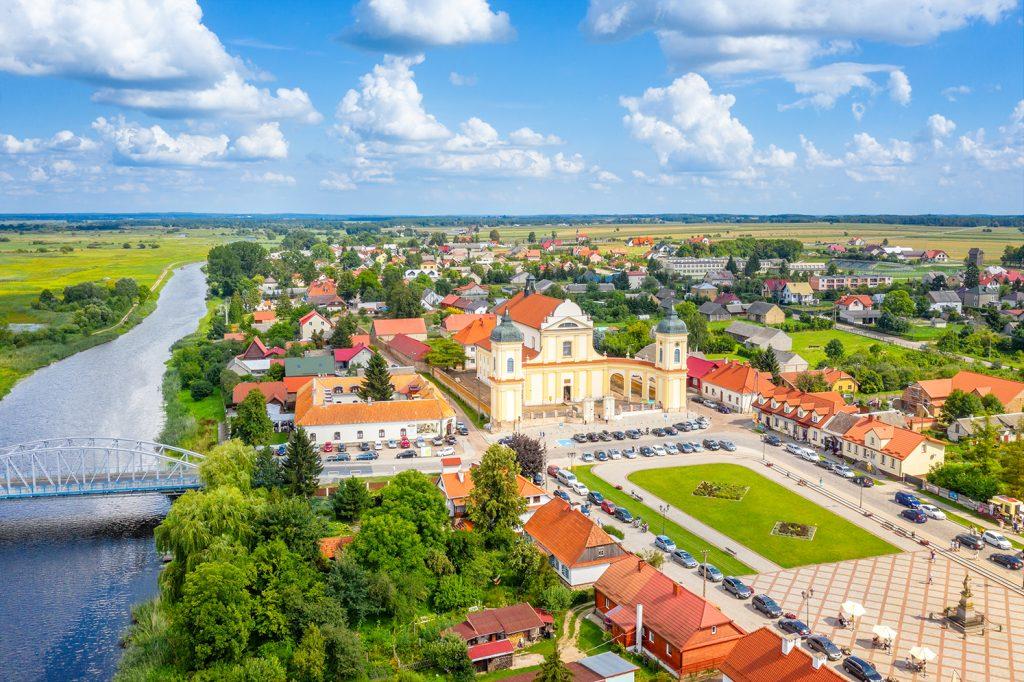Polskie krajobrazy, Tykocin z lotu ptaka, Podlasie